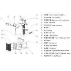 Чиллер-охладитель воды с титановым элементом Hailea HC-100A