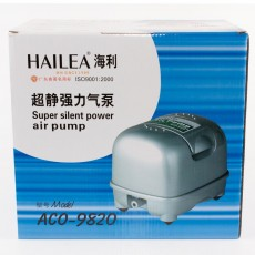 Диафрагмовый компрессор Hailea Super silent ACO-9820, водозащищ, энергосбер., безшумн.